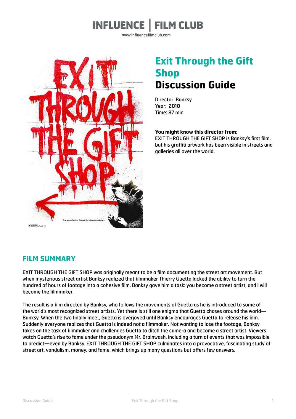 Exit Through the Gift Shop | Influence Film Club