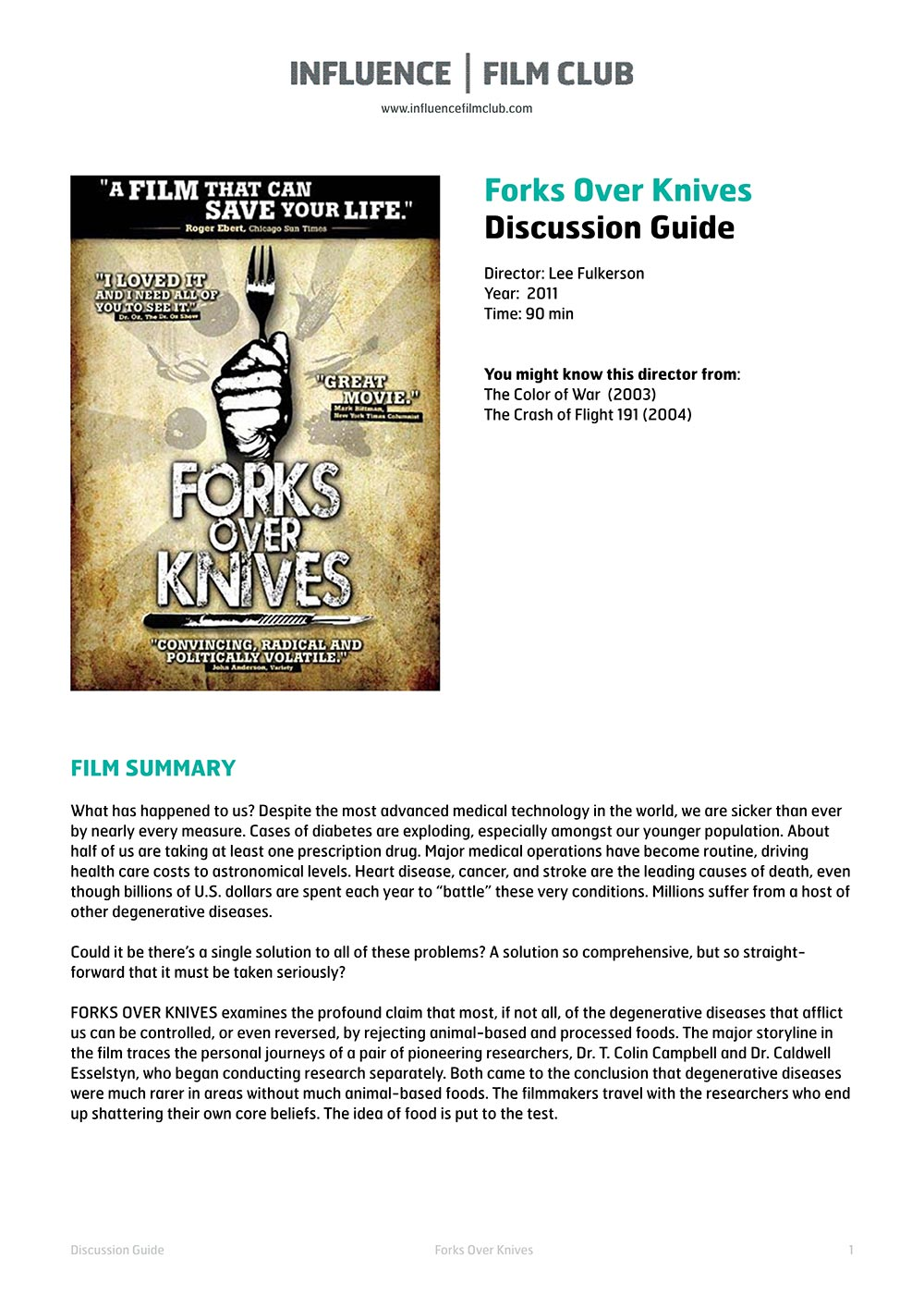 Forks Over Knives Film Benefits Of A Whole Foods Diet