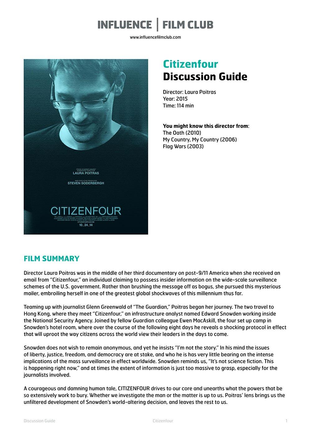 citizenfour influence film club